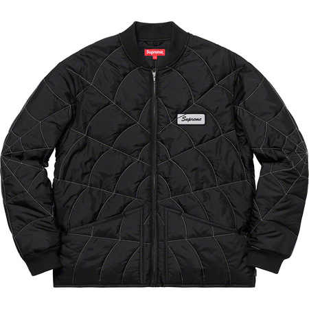 Spider Web Quilted Work Jacket (Black)