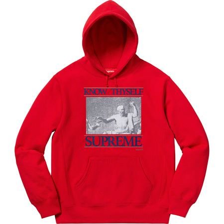 Know Thyself Hooded Sweatshirt (Red)