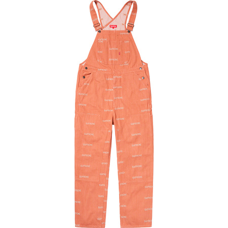 Logo Denim Overalls (Orange)