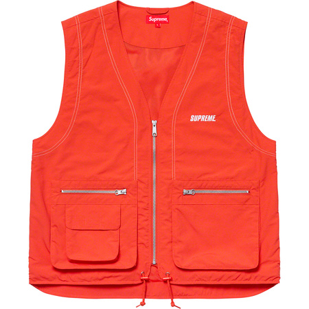 Nylon Cargo Vest (Dark Orange)