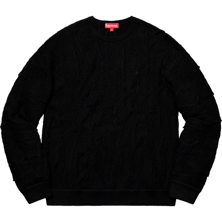 Textured Pattern Sweater (Black)
