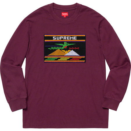 Needlepoint Patch L/S Top (Purple)