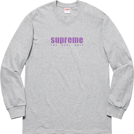 The Real Shit L/S Tee (Heather Grey)
