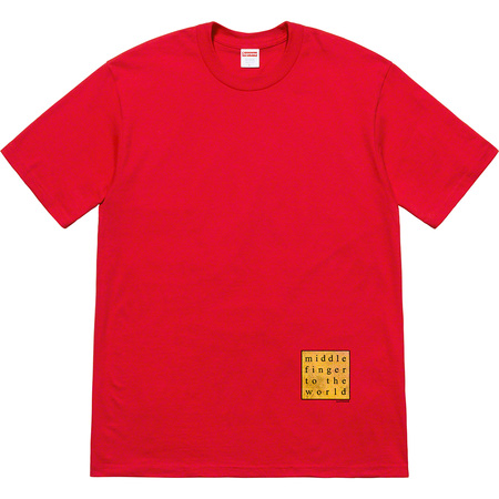 Middle Finger To The World Tee (Red)