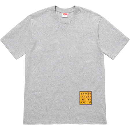 Middle Finger To The World Tee (Heather Grey)