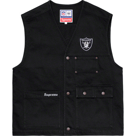Supreme®/NFL/Raiders/'47 Denim Vest (Black)