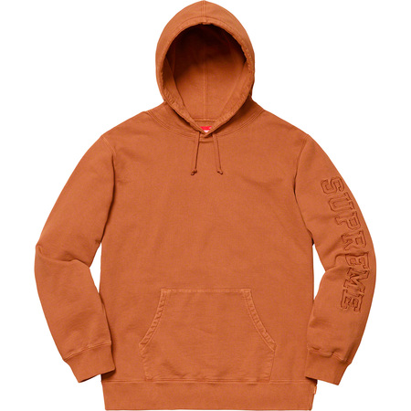 Overdyed Hooded Sweatshirt (Rust)