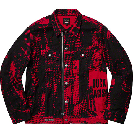 Supreme®/Jean Paul Gaultier® Fuck Racism Trucker Jacket (Red)