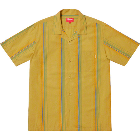 Vertical Stripe S/S Shirt (Lime)
