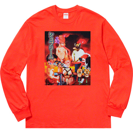 Sekintani La Norihiro/Supreme L/S Tee (Bright Orange)
