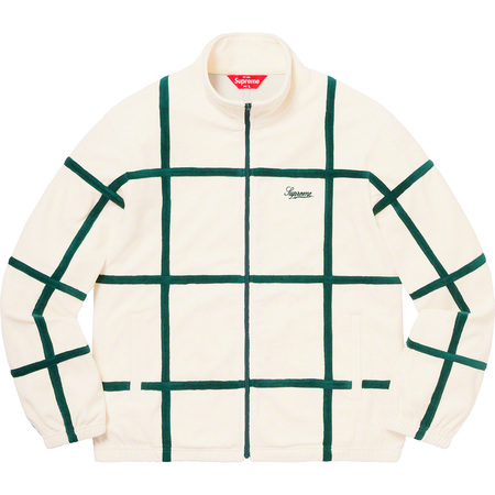 Grid Taping Velour Jacket (Off-White)