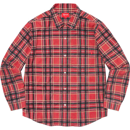 Printed Plaid Shirt (Red)