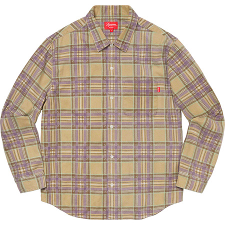 Printed Plaid Shirt (Tan)