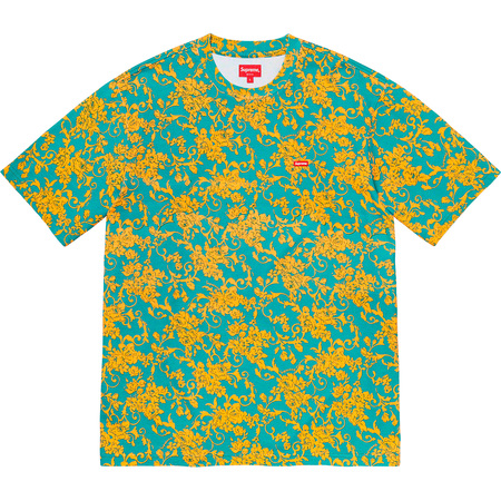 Small Box Tee (Teal Floral)