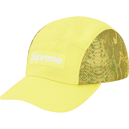 Snakeskin Mesh Camp Cap (Pale Green)