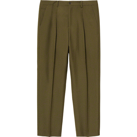 Pleated Trouser (Dark Olive)