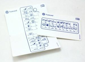 Fuse Card Diagram Key 0406 VW Phaeton  3D0 010 315 P