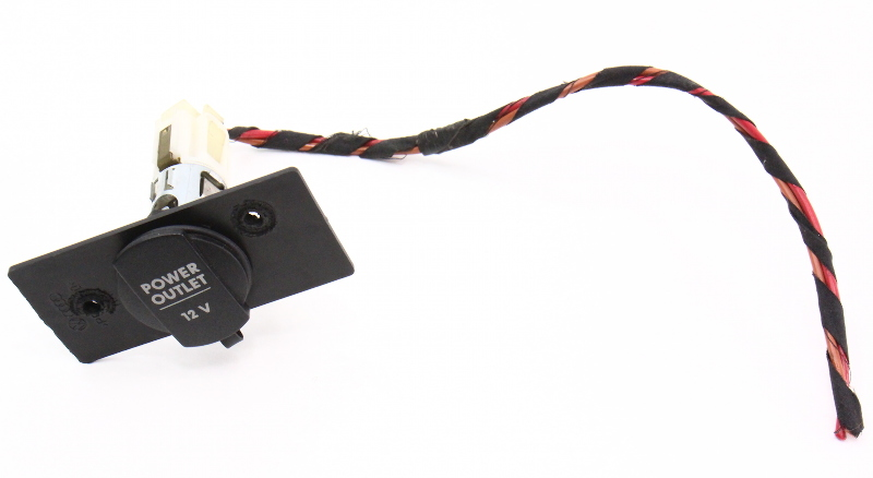 Trunk Power Outlet Socket With Plug & Mounting Plate 99-05