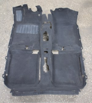 Interior Black Floor Carpet 9399 VW Jetta Golf Mk3  Genuine