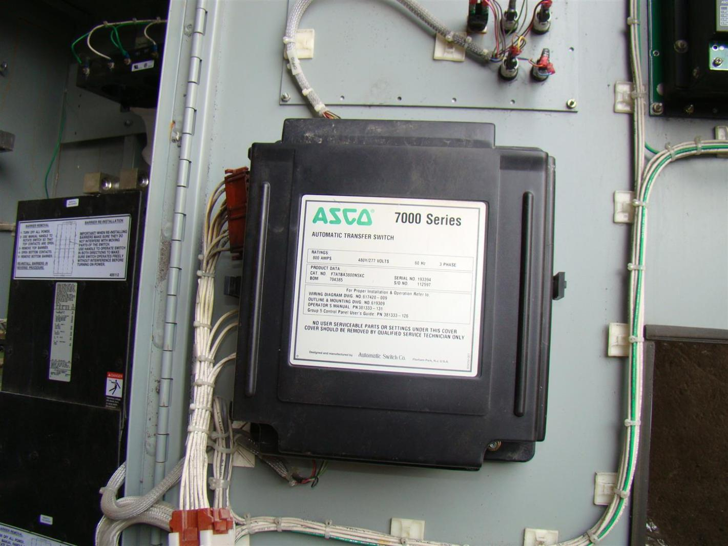 Asco 7000 Series Ats Wiring Diagram 35 Images 185 Transfer Switch Schematic 10678 800a 480y 277v 3o Automatic Bypass Isolation F7atba3800n5xc 9