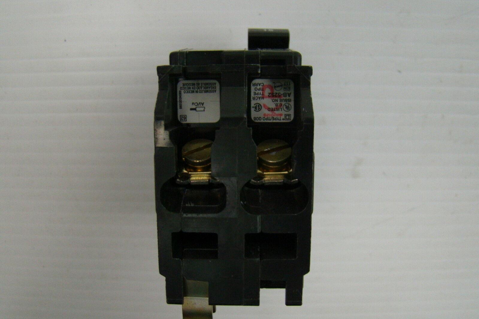 Square D Breaker Qob 2 Pole 15 Amp