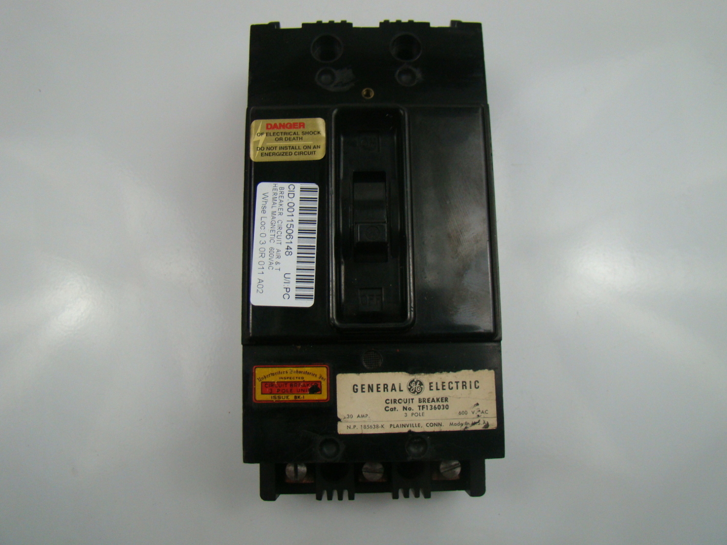 General Electric 600 Volt 30 Amp Circuit Breaker Tf