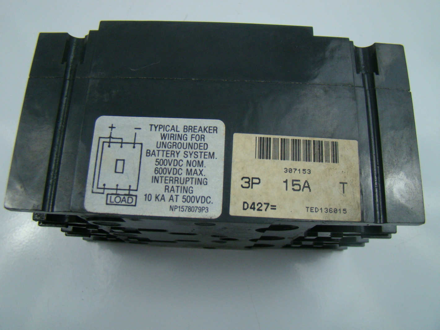 General Electric 15 Amp 600 Volt Circuit Breaker Ted