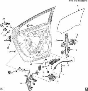 2011 Chevy Volt Left Rear Door Wire Harness For Speaker