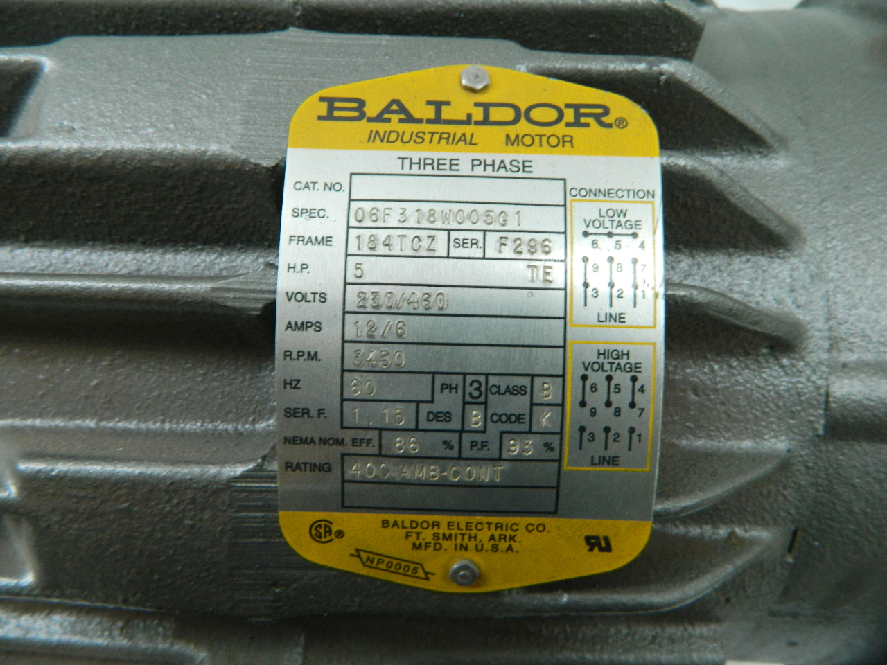ip5524 baldor 5hp electric motor 3450 rpm 184tcz frame te 208 460vac 3 phase 3?resized680%2C510 baldor 10 hp electric motor wiring diagram efcaviation com baldor motors wiring diagram 3 phase at creativeand.co