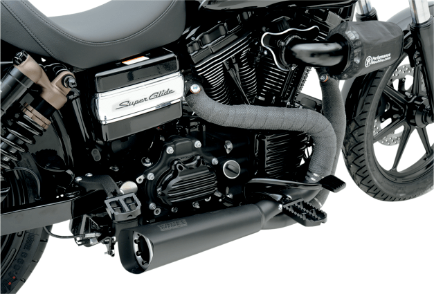 vance hines competition series 2 into 1 black exhaust harley 06 17 dyna fxd jt s cycles