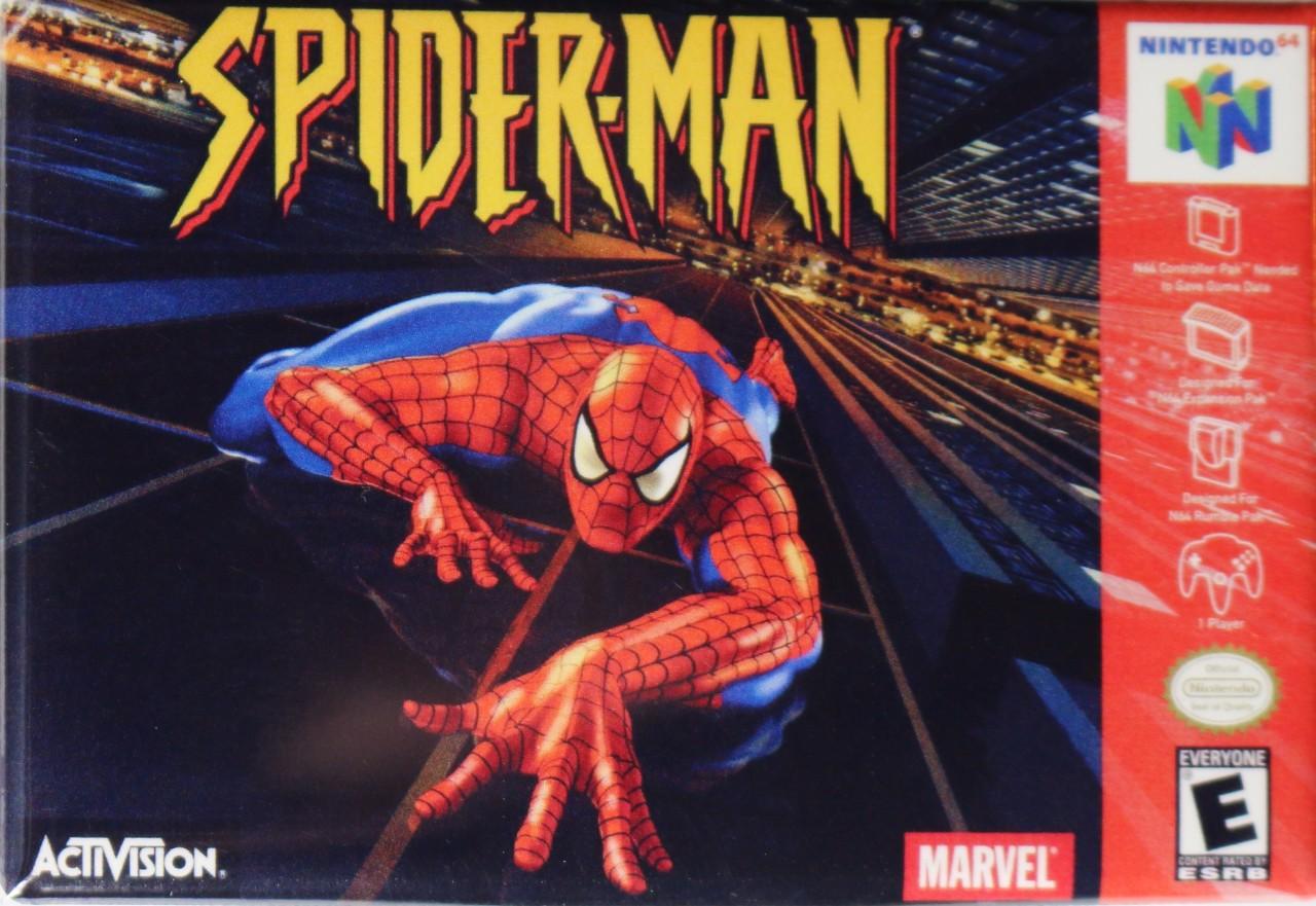 Nintendo Marvel Spiderman Fridge Magnet Video Game Box