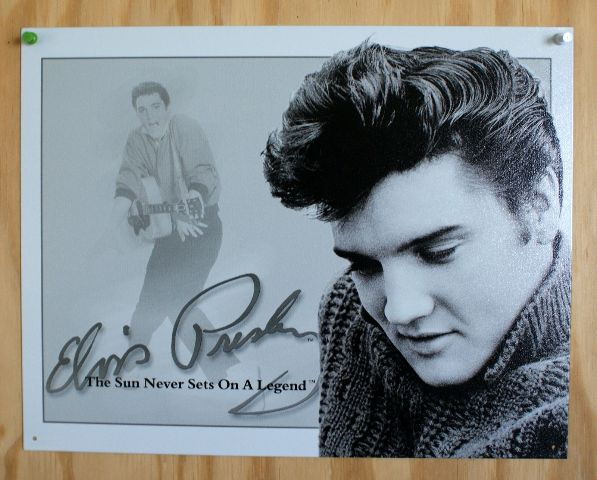 Elvis Presely The Sun Never Sets On A Legend Tin Sign Sun