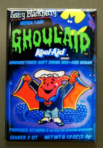 Ghoul Aid Kool Aid Refrigerator Fridge Magnet Halloween Kitchen Decor 1980s I5