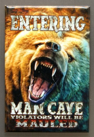Entering Man Cave Violators Will Be Mauled Refrigerator