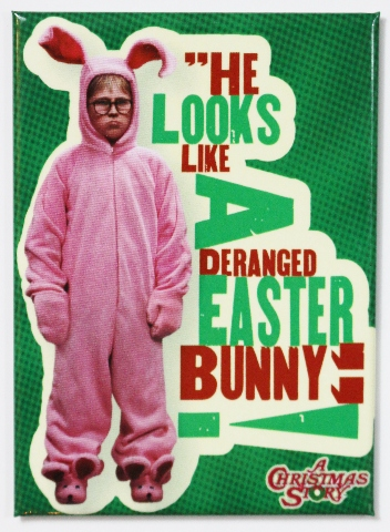 A Christmas Story Deranged Easter Bunny Fridge Magnet