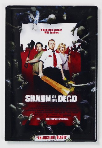Shaun Of The Dead Movie Poster FRIDGE MAGNET Comedy Funny