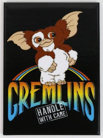 Gizmo Gremlins Handle With Care Refrigerator FRIDGE MAGNET 1980s J31