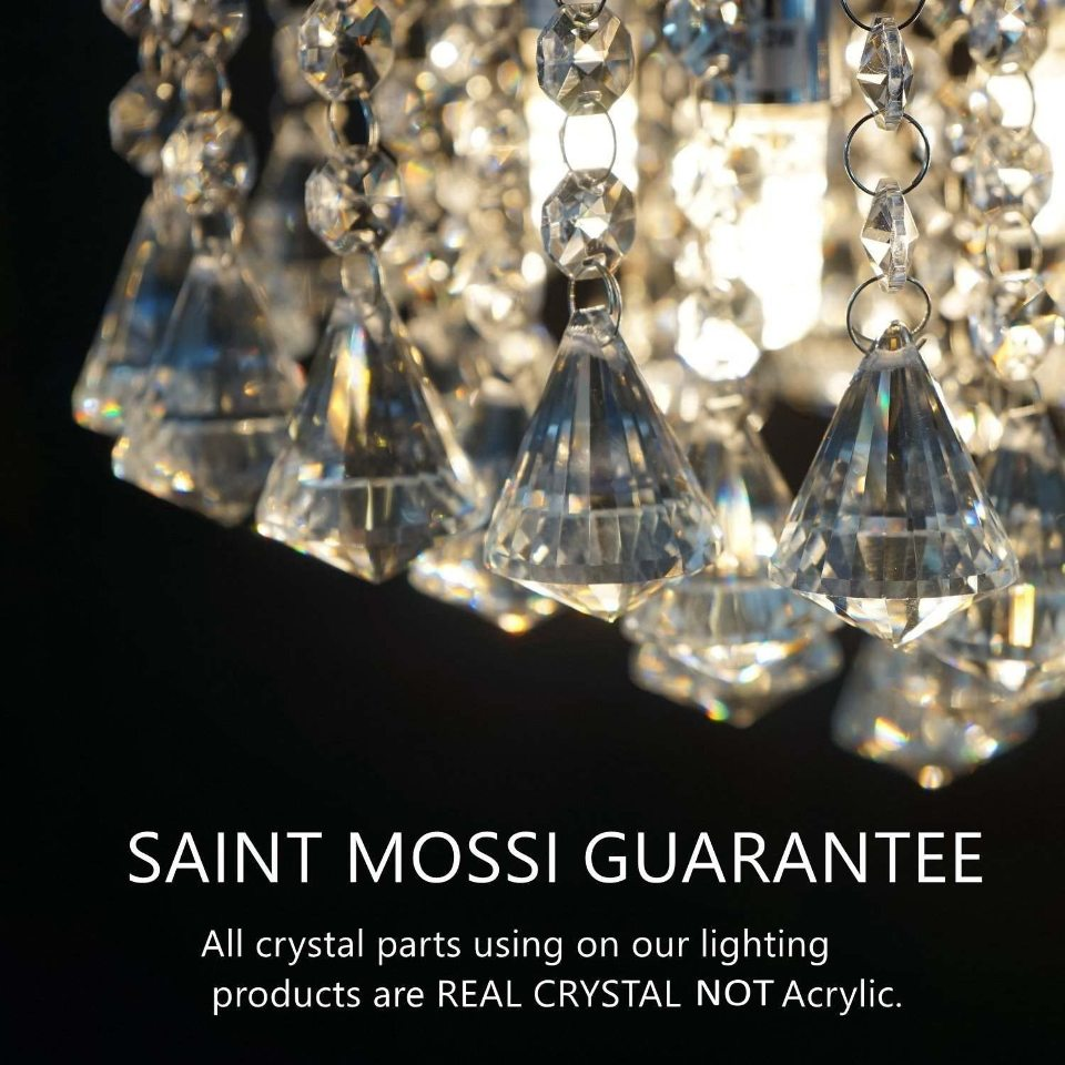 saint mossi modern contemporary elegant k9 crystal glass chandelier 5 lights