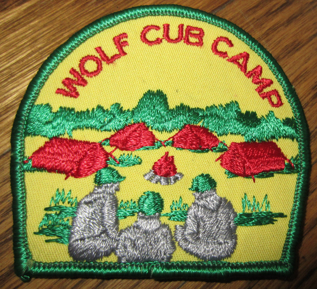 Boy Scout Patch Vintage Wolf Cub Camp