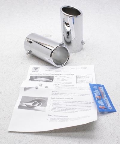 oem vibrant polished stainless steel exhaust tips for volkswagen passat cc ebay