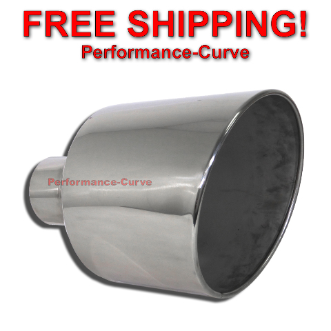 details about diesel stainless steel weld on exhaust tip 5 inlet 12 outlet 18 long