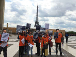 Protesters in Paris called for an end to torture and arrests in West Papua.