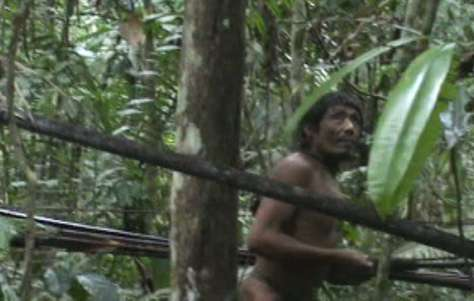 The Kawahiva are one of the tribes whose territories are covered by the Land Protection Orders. Still from unique footage taken by government agents during a chance encounter.