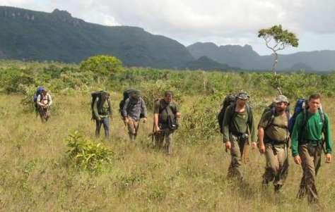FUNAI agents on a patrol. Teams like this are vital to protecting indigenous territories, but their funding is being cut by the Brazilian government.