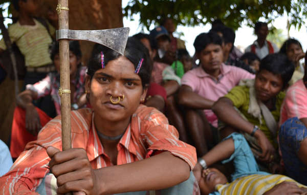 The Dongria have rallied together in opposition to an open pit mine in their Niyamgiri Hills.