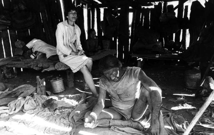 Ayoreo man Eode at a New Tribes Mission base, Paraguay, 1979. Captured in a manhunt, he died a few days later.