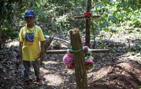 Damiana Cavanha, leader of the Apy Ka'y community, has seen the deaths of three of her children and her husband. She is determinedly planning a reoccupation of their ancestral land where they are buried.