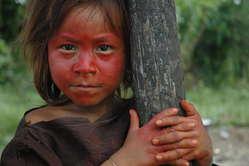 Ashéninka girl in south-east Peru