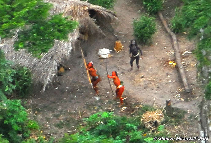 Uncontacted Indians in Brazil in May, 2008