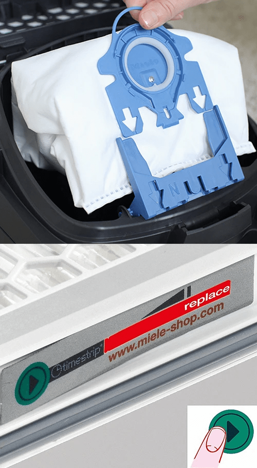 Miele Filter Dust Bag and HEPA Exhaust Filter